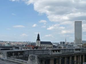 View of Hotel de Ville & Atomium