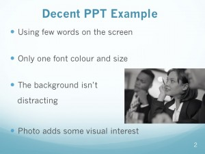 Decent PowerPoint slide