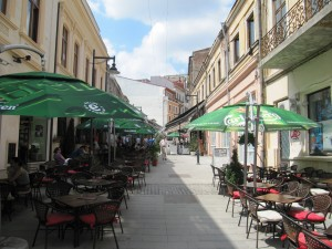 Patios in the old city center